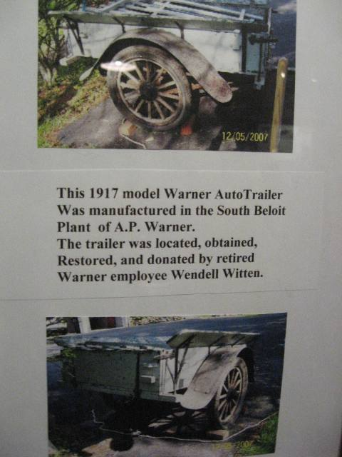 Restored Warner Trailer At Bushnell Wheeler House